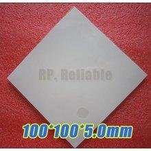 100*100*5,0 мм Мягкие силиконовые термопластины/прокладки для отвода тепла для радиатора/чипсет светодиодный изоляционный зазор/охлаждение/уплотнение более низкая вибрация