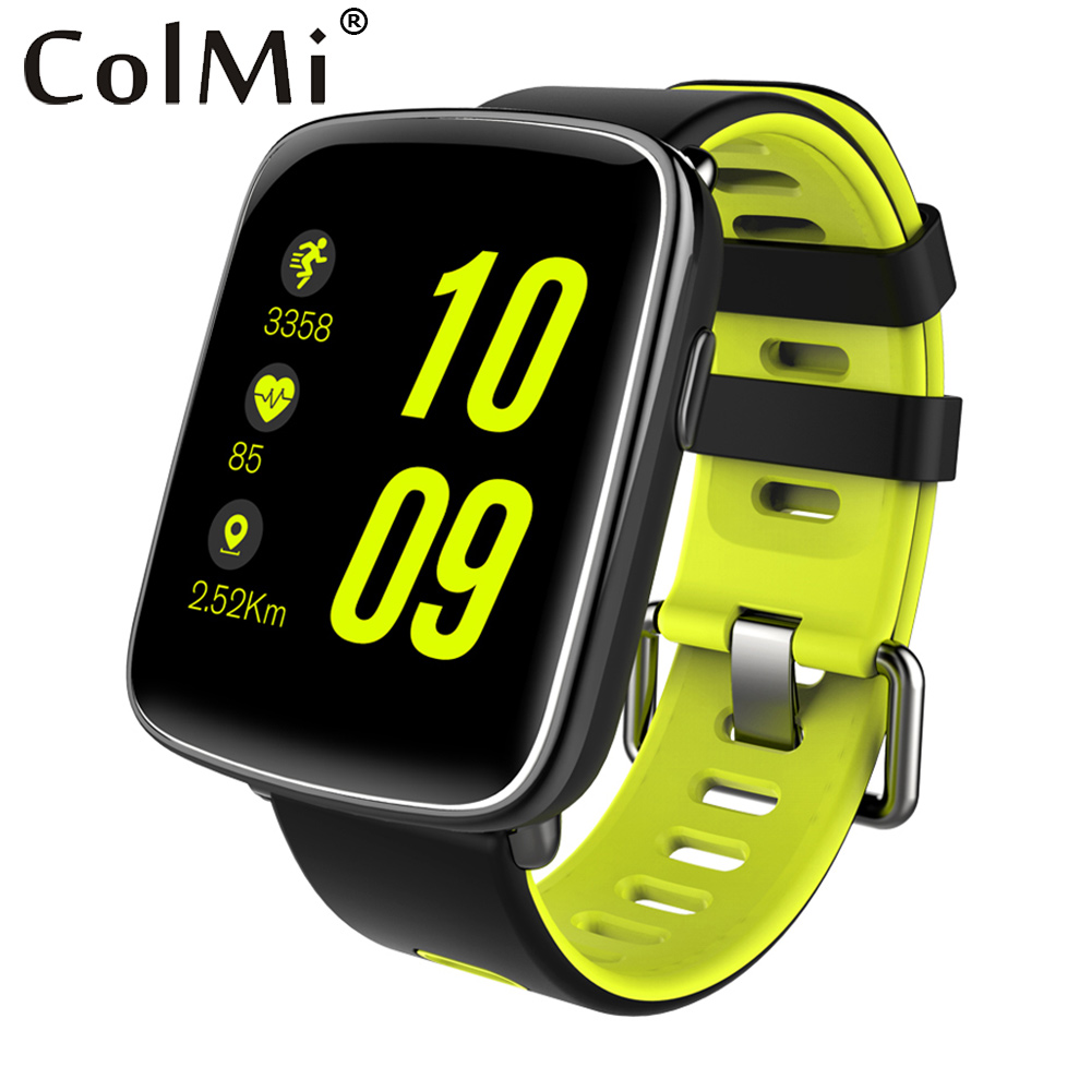 ColMi GV68 Smart Watch Waterproof Ip68 Heart Rate Monitor Bluetooth Smartwatch Swimming with Replaceable Straps for IOS Android free shipping smart watch c7 smartwatch 1 22 waterproof ip67 wristwatch bluetooth 4 0 siri gsm heart rate monitor ios