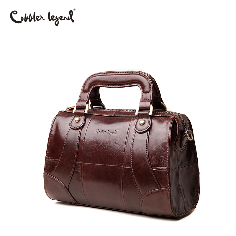 Cobbler Legend Boxy Design Genuine Leather Women Handbag Brand Fashion Shoulder Bag Crossbody Vintage Handmade Old Classic Tote In Top Handle Bags From