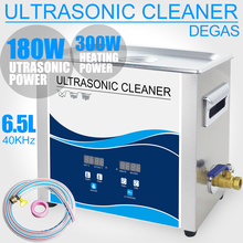 6.5L Ultrasonic Cleaner Stainless Steel Bath 180W Power Adjustable 40KHZ Degassing Ultrasound Dental Cleaner Household Medical stainless steel ultrasonic cleaner ultrasonic cleaning machine jewelry dental prosthesis watches phone glasses cleaner baku 3550