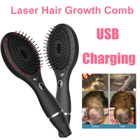LED Photon Laser Hair Growth Comb Infrared Ray Vibration Detangling Hair Anti Loss Regrowth Brush Head Scalp Stimulate Massager
