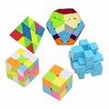 5 Unids/pack 2, 3 capas, Megaminx cubo, espejo, Pyraminx cubo Stickerless Puzzle Cube Velocidad Cubos Mágicos Profesional Al Por Mayor de 45