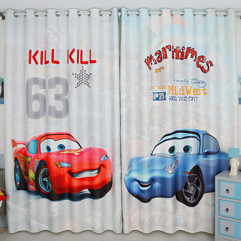 Cartoon Trees Curtains For Kids Boys Bedroom Blinds Linen: Boys Cute Cars Children Curtains For Living Room Modern