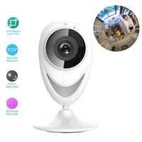 New 185 Degree Full Fisheye View 720P H 264 Wireless WIFI Network PIR Security IP Indoor