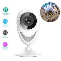 New 185 Degree Full Fisheye View 720P H 264 Wireless WIFI Network PIR Security IP Indoor