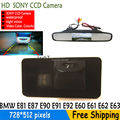 sony CCD HD Car Rear View Reverse BackUp Parking Camera with mirror monitor for BMW E81 E87 E90 E91 E92 E60 E61 E62 E64 X5 X6