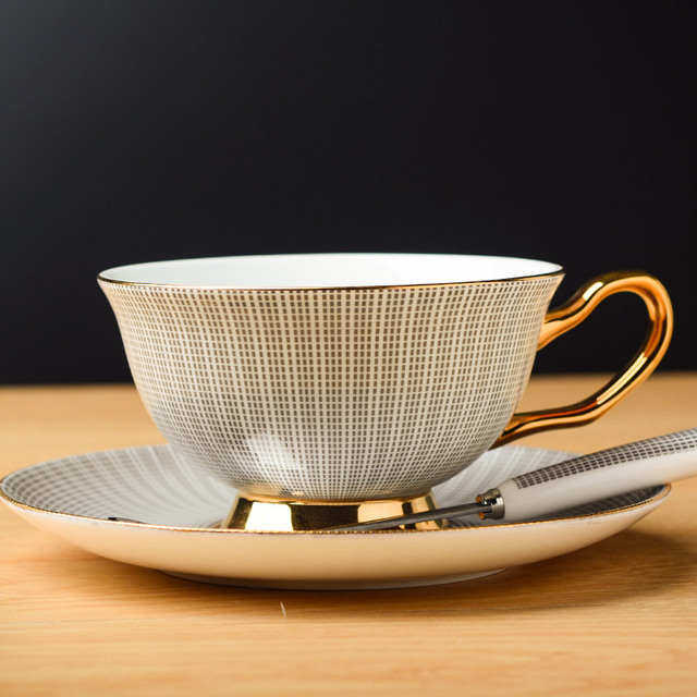 Noble Bone China Tea Cup with Saucer and Spoon Set