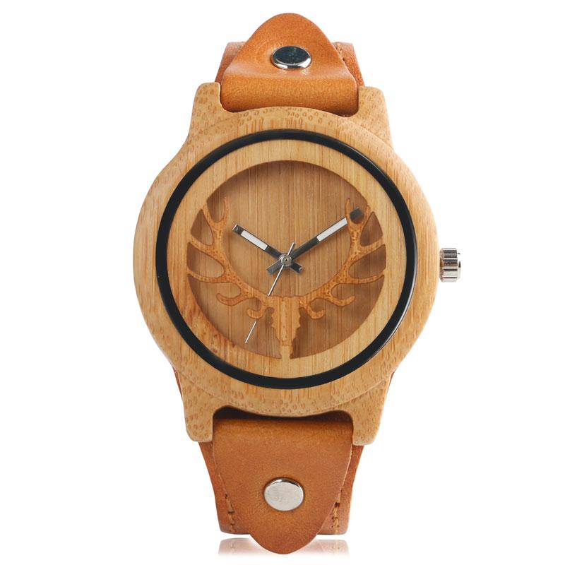 Hollow Elk Bamboo Wood Watch