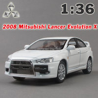 Kinsmart 2008 Mitsubishi Lancer Evolution X Car 1 36 5Inch Diecast Metal Alloy Cars Toy Pull