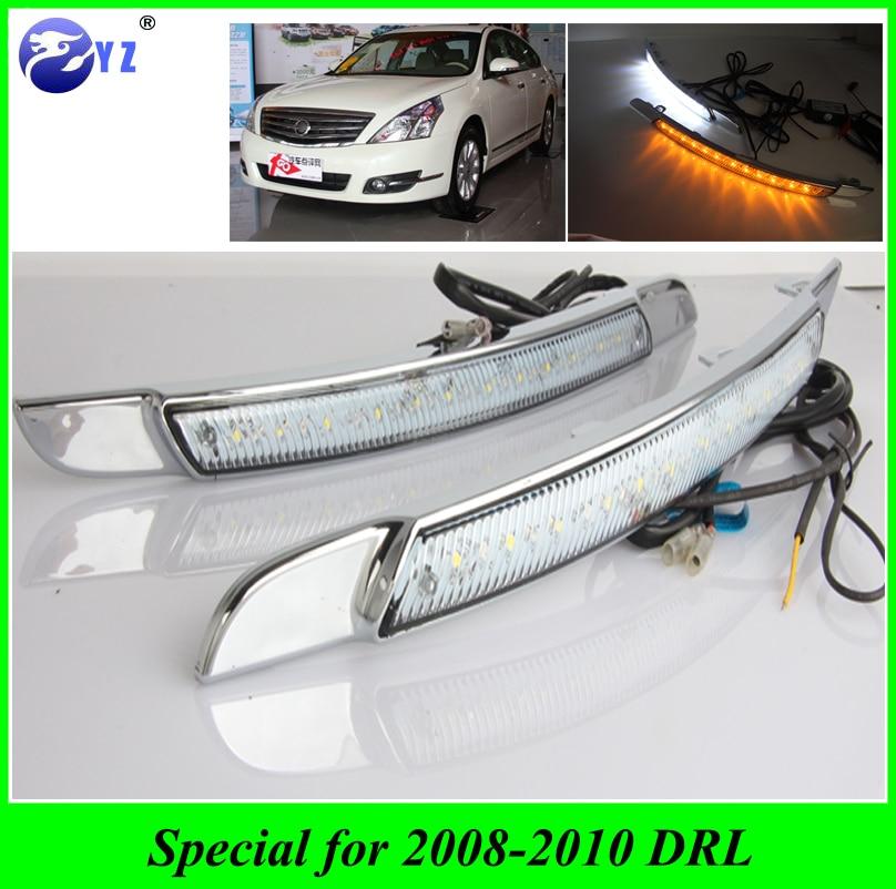 Car Flashing 1 Set DRL For Nissan Altima Teana 2008 2009 2010 Daylight Car LED DRL