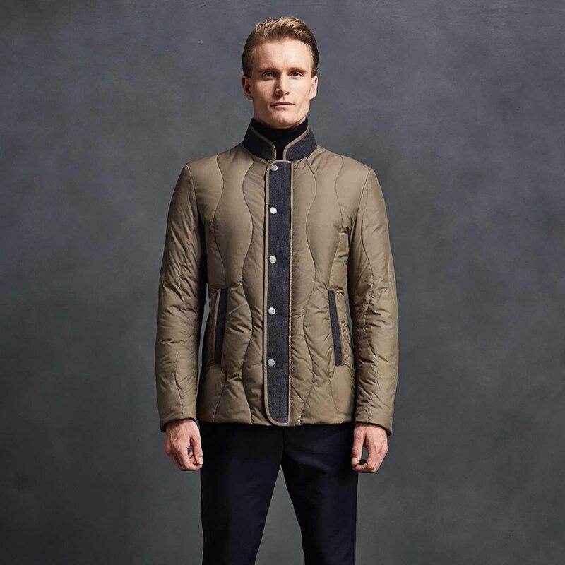 2019 High Quality Men   Down   Jacket 90% White Duck   Down   Winter   Down     Coat   Men Autumn Mens   Down   Jacket Ultra Light Stand Collar