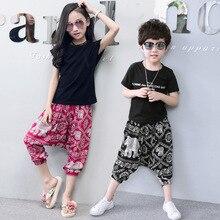 neue 2018 Sommer Kinder wadenlangen Mädchen Hosen Mode Mädchen Leggings print Muster Jungen Mädchen Harem Hosen Kinder Hosen