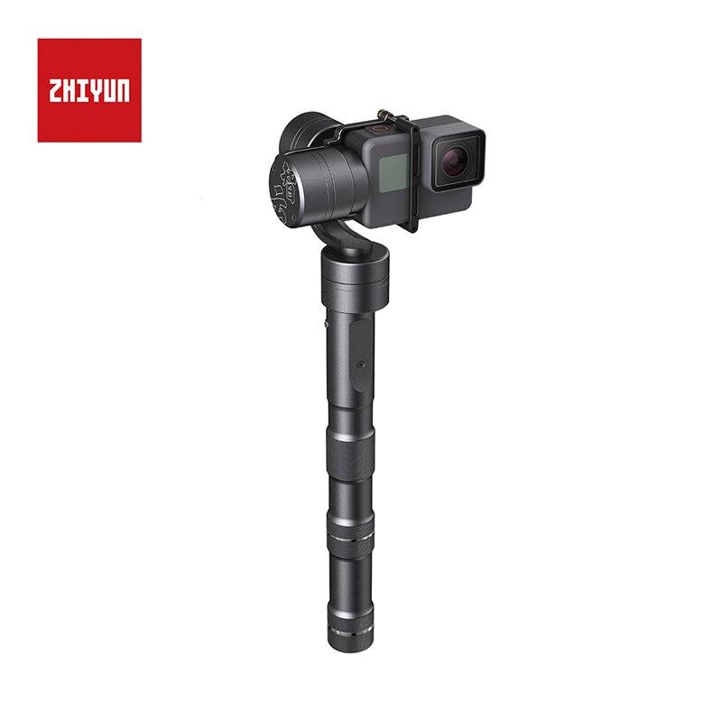 Stabilisateur de cardan à main Zhiyun Evolution 3 axes pour caméra d'action Gopro3/3 +/4 Construction en alliage d'aluminium