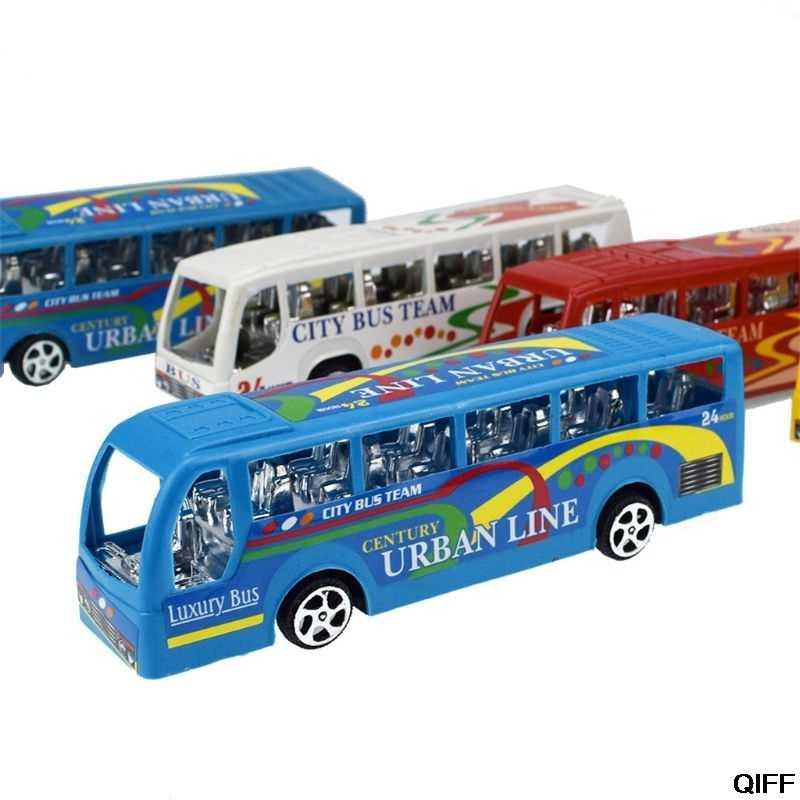 """Drop ship & atacado 5.5 """"ônibus da cidade carros inerciais crianças brinquedos modelo de carro veículos brinquedo do bebê layout paisagem presente may06"""