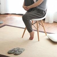 Japan style natural linen surface big size ground mat for summer cool tatami mat,100% cotton environmental ground mat ,yoga mat