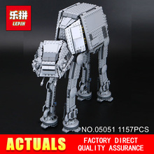 Lepin 05051 1157Pcs Star War Series Force Awaken The AT-AT Transpotation Armored Robot 75054 Building Blocks Bricks funny Toy