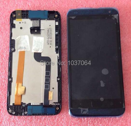 Lcd screen display + digitador touch com quadro para htc desire 601 zara preto cor frete grátis