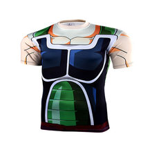 Mode anime 3 d Gedruckt t-shirt digital print dragonball super jesaja schnell trocknende kompression kurzarm t-shirt Männer Tops(China)