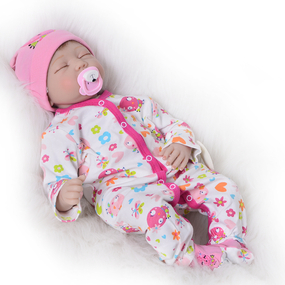 Cute Sleeping Bebe Reborn 22 Silicone Vinyl Newborn Doll Alive Baby Toys Cloth Body Touch Soft Hot Girls Birthday GiftsCute Sleeping Bebe Reborn 22 Silicone Vinyl Newborn Doll Alive Baby Toys Cloth Body Touch Soft Hot Girls Birthday Gifts