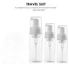 Garrafa de plástico transparente para cuidados com a pele, pequeno spray vazio para maquiagem e cuidados com a pele, recarregável para uso em viagem