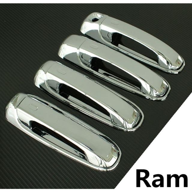 Xyivyg For Dodge Ram Chrome Triple Plated 4 Door Handle W O Penger Keyhole Cover 05 10 Dakota 04 Durango Jeep Liberty