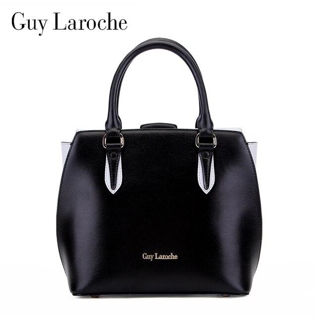 Guy Laroche Women S Handbag 2017 Spring And Summer New Arrival Cowhide Black White Color