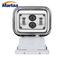 Marlaa 1pc 7 60W 4D Led Remote control Searchlight 7inch 12v Spot LED Work searching Light for TRUCK SUV BOAT MARINE