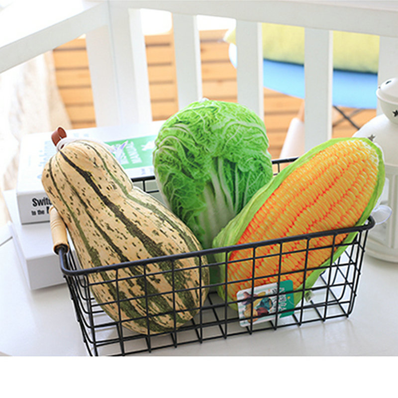 Cute Kawaii Simulation Vegetables Plush Pendant Toys Staffed Cute Fish Plants Doll Cute Bag Pendant Creative Gift for Girls