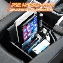 Автомобильная Центральная консоль подлокотник коробка для хранения лоток Органайзер для Honda 10th Civic аксессуары для стайлинга автомобилей ABS