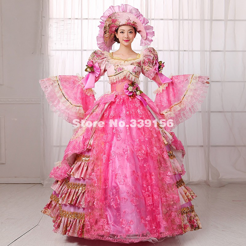 High-end Pink Royal Court Rococo Marie Antoinette Dress Photography Studio Stage Outfit Pictorial Clothing Vestidos