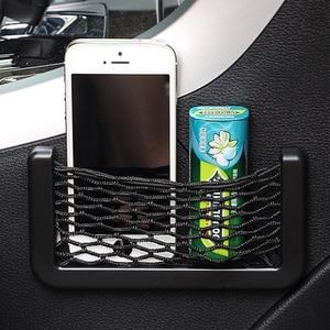 Image 3 - Organizador de bolsillo de malla para Red de Almacenamiento de coche, para smart fortwo, renault clio 2, seat leon fr, renault clio 4, passat b7, toyota