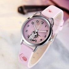 2019 New cute cat Children Fashion Watches Quartz Wristwatches Jelly Kids Clock