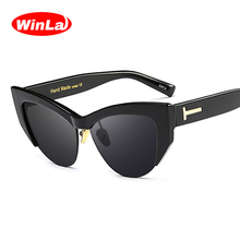 Winla Fashion Design Women Sun Glasses Classic Sexy Cat Eye Sunglasses Elegant Retro Brand Goggles Oculos de sol UV400 WL1094