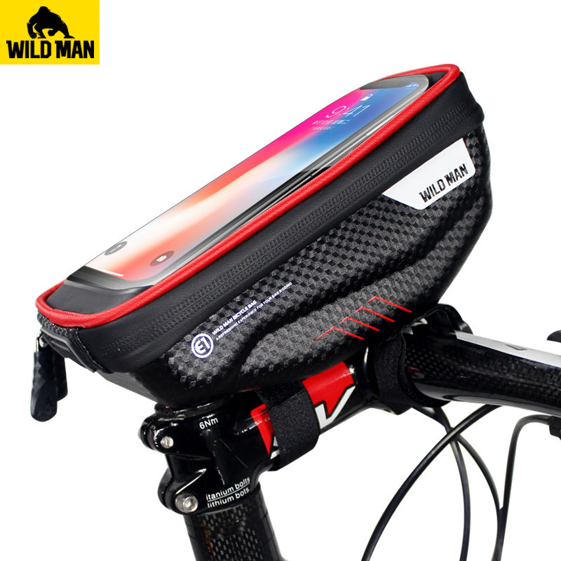 Bicycle Front Frame Bag Touch Screen Top Tube Handlebar Bicycle Phone Bag Rainproof MTB Road Bike Hard Shell Resistant BagBicycle Front Frame Bag Touch Screen Top Tube Handlebar Bicycle Phone Bag Rainproof MTB Road Bike Hard Shell Resistant Bag