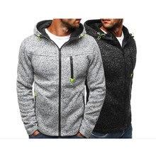 Gym Personality Zipper Hoodies Men  Male Slim Fashion Solid Color Hoody Tracksuit Hip Hop Autumn 2019 Cotton Sweatshirt Mens
