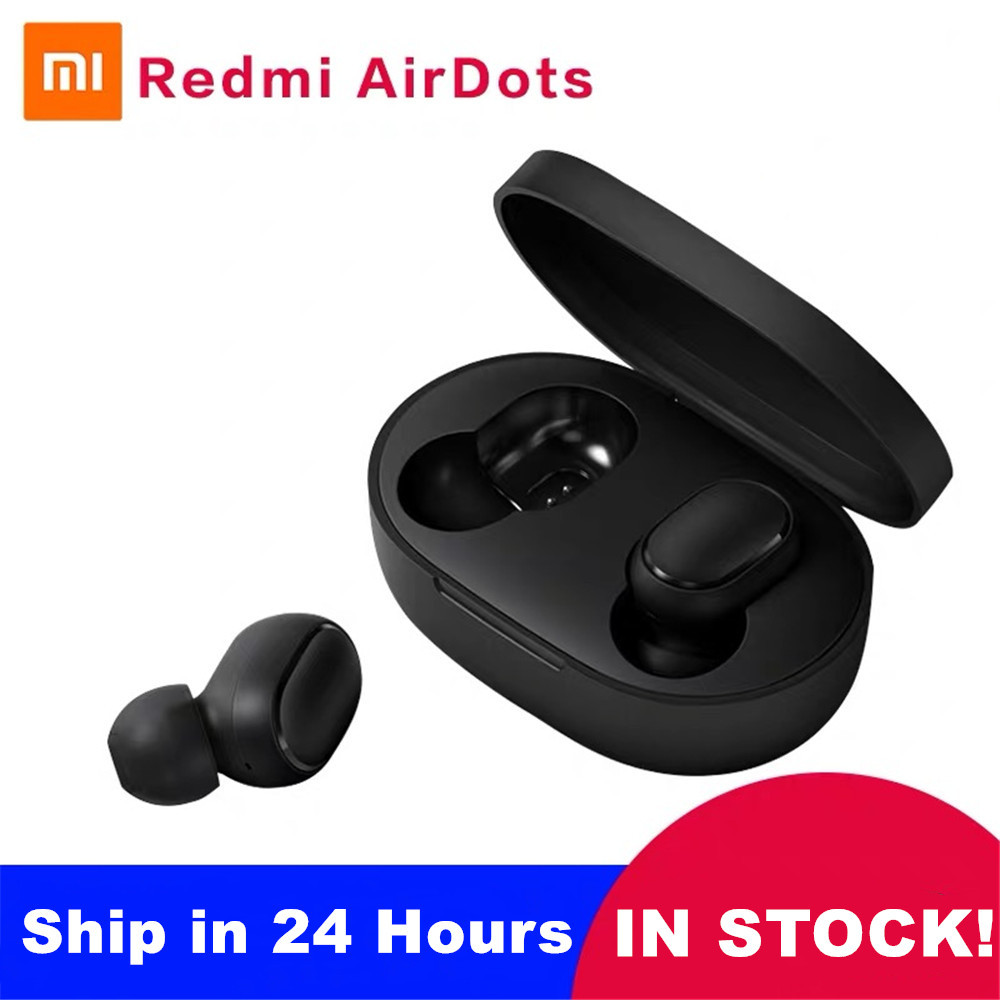 Xiaomi Redmi Airdots TWS Mi True Wireless Bluetooth Earphones Stereo Bass Bluetooth 5.0 With Mic Handsfree Earbuds AI Control