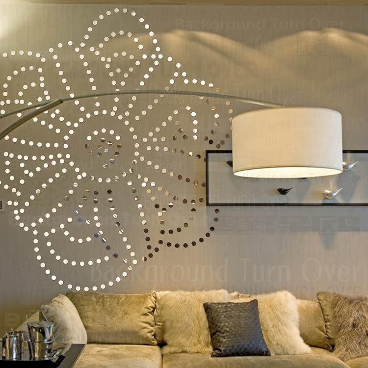 Creative BRICOLAGE cercle dot Rose fleur wall sticker home decor pour chambre lit tête décoration de salle de mur d'art 3d autocollant affiche R090