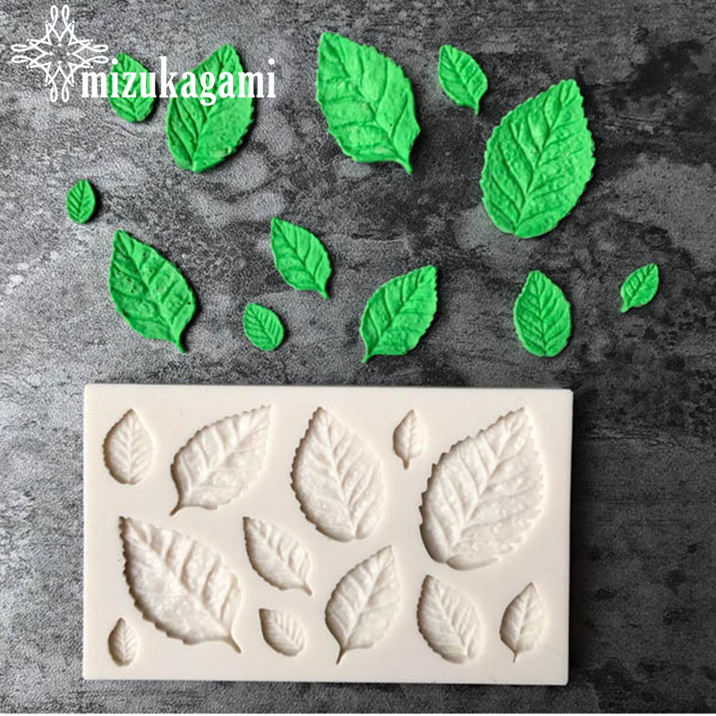 1pcs UV Resin Jewelry Liquid Silicone Mold Leaf Resin Charms Pendant Molds For DIY Intersperse Decorate Making