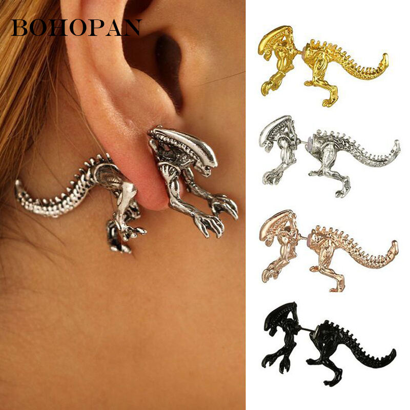 US $1.48 45% OFF|Personalise Cool Punk Style Earrings For Men Rock  Temptation Alloy Dinosaur Dragon Stud Earrings Fashion Jewelry orecchini  Gifts-in ...