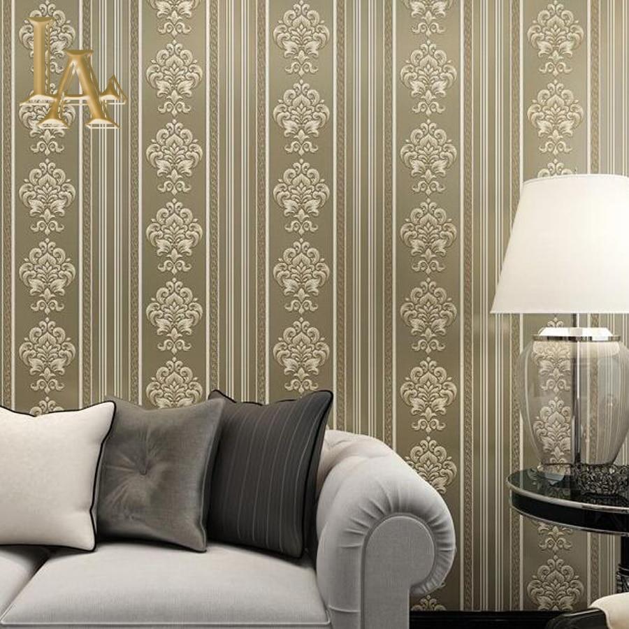 Popular beige damask wallpaper buy cheap beige damask for Beige living room wallpaper