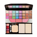 Fashion 24 color Eye Shadow 4 color Lip Gloss 3 color Brushes 2 color Dry / Wet powder Makeup Palette Combination Set