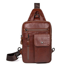 Genuine Leather Men Chest Bag Casual Business Travel Men's Messenger Bags Male Leather Fanny Boy pack Phone Shoulder Bags gold coral 2015 genuine leather chest pack fashion cowhide large package male messenger bags for men shoulder bag boy