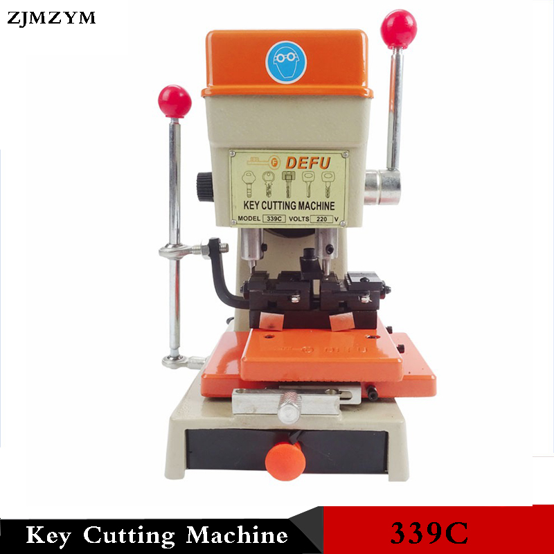Multi fuctional chucking 339C Key cutting machine for door key copy machine 150W  220v/50hz Key Duplicating Machine