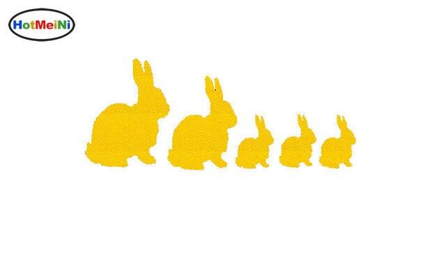 HotMeiNi Endearing little animals Rabbit Silhouette Family Sticker For Car  Window Truck Bumper Kayak Laptop Bunny