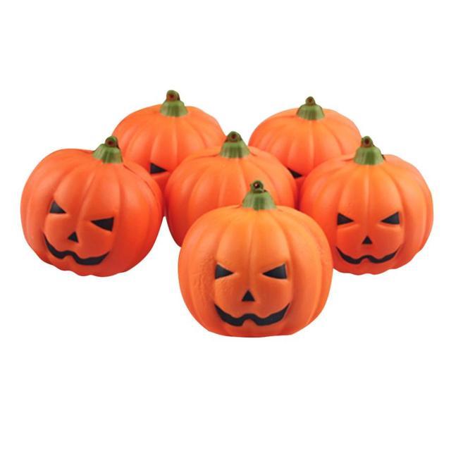 1pc halloween decoration simulation small pumpkin foam mini diy artificial handwork halloween party supplies diameter 8cm