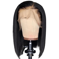 Maxine Short Blunt Cut Bob Wig Straight Lace Front Human Hair Wigs For Black Women 8 14inch Preplucked With Baby Hair 13x4