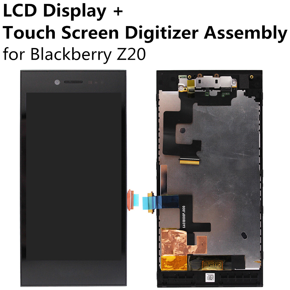 LCD Display + Touch Screen Panel Glass Lens Digitizer Sensor Assembly for Blackberry Z20 Replacement Repair Part FreeShipping