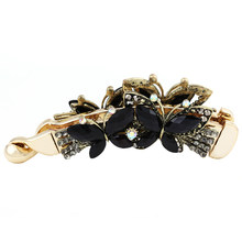 Women Banana Hair Clip Claw Holder Butterfly Resin Hairpin Vintage 108x31mm(China)