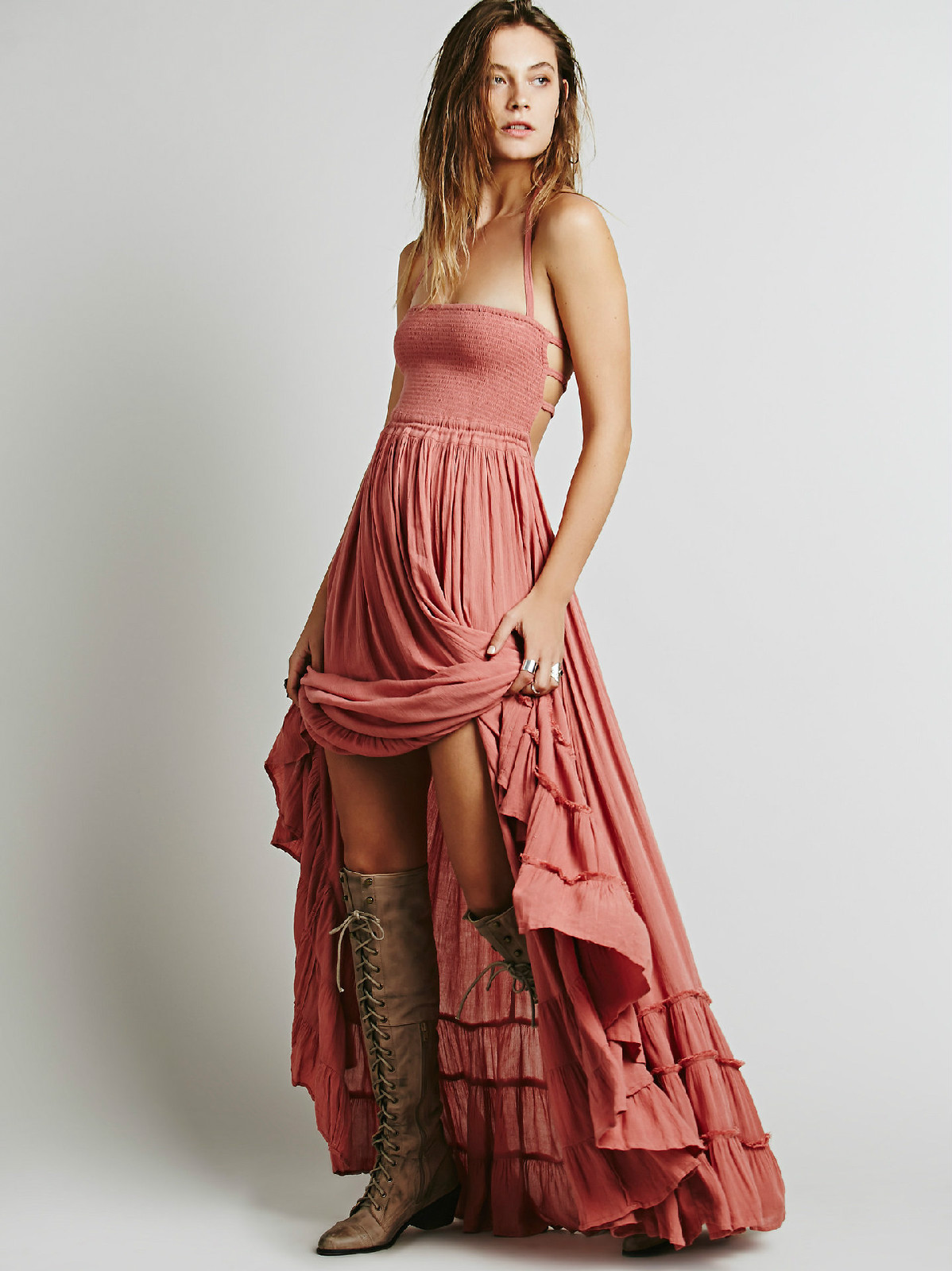 Backless Strapless Long Dress