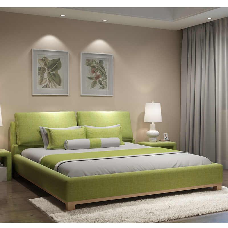180X200cm European soft sleeping bed bedroom furniture 2 ...